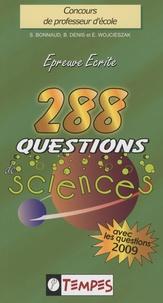 Stéphane Bonnaud et Eric Wojcieszak - 288 questions de sciences avec 107 confusions à éviter.