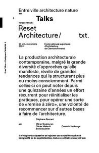 Stéphane Bonzani et Olivier Soubeyran - Reset Architecture - Entre ville architecture nature.