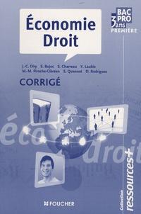 Stéphane Bujoc et Sylvie Charreau - Economie Droit première Bac Pro 3 ans - Corrigé.