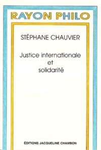Stéphane Chauvier - Justice internationale et solidarité.