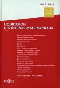 Stéphane David et Alexis Jault - Liquidation des régimes matrimoniaux.