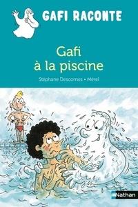 Stéphane Descornes et  Mérel - Gafi à la piscine.