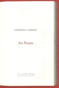 Stéphane Lambert - Art Poems.