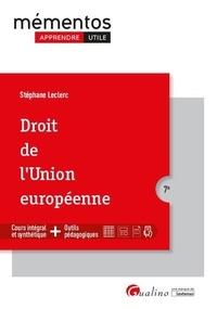 Stéphane Leclerc - Droit de l'Union européenne.