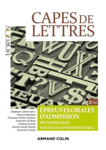 CAPES de lettres. Epreuves orales d'admission