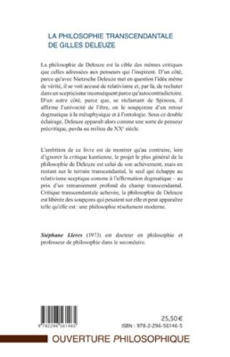 La philosophie transcendantale de Gilles Deleuze