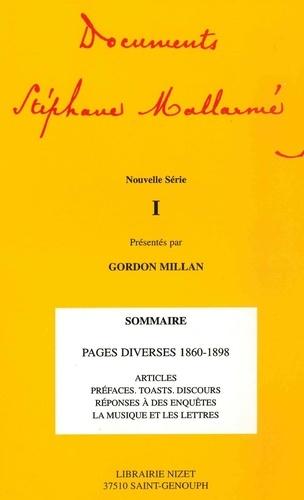 Stéphane Mallarmé et Gordon Millan - Documents Stéphane Mallarmé Tome 1, Nouvelle sér : .
