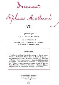 Stéphane Mallarmé et Carl paul Barbier - Documents Stéphane Mallarmé VII.