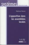 Stéphane Manson - L'opposition dans les assemblées locales.