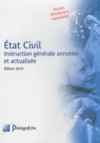 Stéphane Monchaux et Jean-Michel Coffy - Etat Civil - Instruction générale annotée et actualisée.