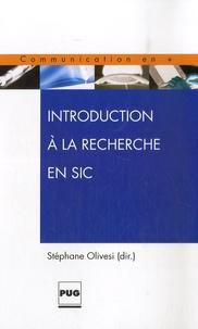 Stéphane Olivesi - Introduction à la recherche en SIC.
