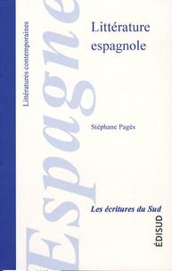 Stéphane Pagès - Littérature espagnole.