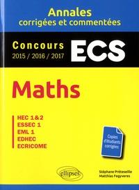 Maths - ECS- HEC 1 & 2, ESSEC 1, EML 1, EDHEC, ECRICOME - Stéphane Préteseille pdf epub