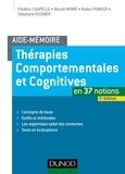 Stéphane Rusinek et Frédéric Chapelle - Thérapies comportementales et cognitives en 37 notions.