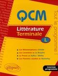 Stéphane Sialac - QCM Littérature Tle L.