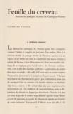 Stéphane Vignon - Feuille du cerveau - Autour de quelques oeuvres de Giuseppe Penone.