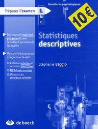Stéphanie Baggio - Statistiques descriptives.