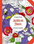 Stéphanie Brepson - Jardin en fleurs - 100 dessins à colorier.