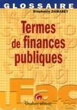 Stéphanie Damarey - Termes de finances publiques.