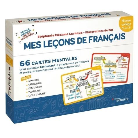 Français 5e, 4e, 3e Mes leçons de Français. 66 cartes mentales. Niveau collège