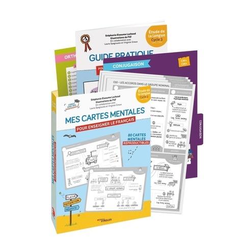 Mes cartes mentales pour enseigner le français étude de la langue Cycle 3 : CM1, CM2. Guide pratique pour enseigner le français avec des cartes mentales, 80 cartes mentales, leçons textes, mémos