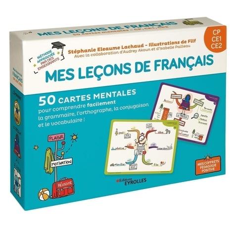 Mes leçons de français CP CE1 CE2. Avec 40 cartes leçons, 10 cartes jeux, 1 livret explicatif
