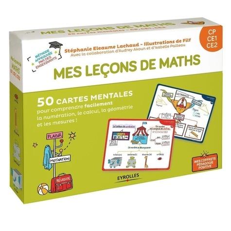 Mes leçons de math CP CE1 CE2. Avec 40 cartes leçons, 10 cartes jeux, 1 livret explicatif