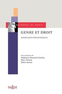Stéphanie Hennette-Vauchez et Marc Pichard - Genre et droit - Ressources pédagogiques.
