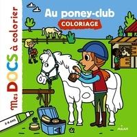 Stéphanie Ledu et Hélène Convert - Au poney-club - Coloriage.