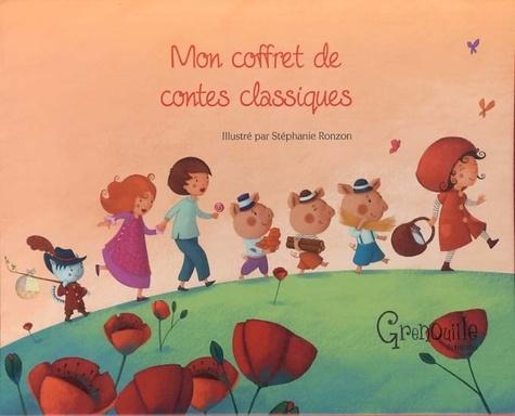 Mon coffret de contes classiques. Hansel et Gretel ; Le petit chaperon rouge ; Les trois petits cochons ; Le chat botté - Stéphanie Ronzon