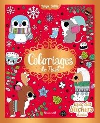 Stéphanie Rousseau - Coloriages de Noël - Avec des stickers dorés.