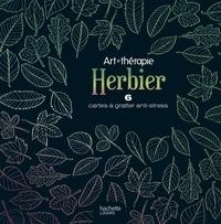 Stéphanie Rubini - Herbier - 6 cartes à gratter anti-stress.