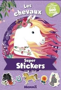 Stéphanie Sojic - Les chevaux - Des coloriages et + de 500 stickers.