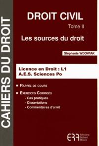 Stéphanie Wdowiak - Droit civil - Tome 2, Les sources du droit.