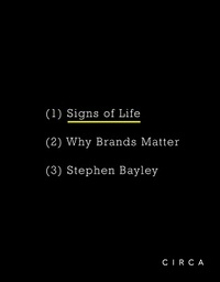 Stephen Bayley - Signs of life.