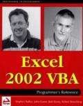 Stephen Bullen et Rob Bovey - Excel 2002 VBA Programmer's reference.