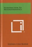 Stephen Cole Kleene - Introduction to metamathematics.