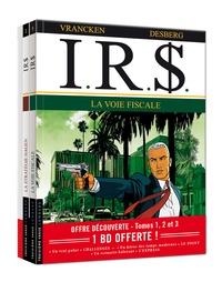 Stephen Desberg et Bernard Vrancken - IRS  : Coffret Tomes 1 à 3 - La voie fiscale ; La stratégie Hagen ; Blue Ice.