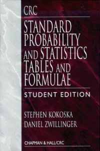 Galabria.be Standard Probability and Statistics Tables and Formulae. Student edition Image