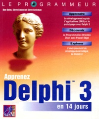Deedr.fr Apprenez Delphi 3 en 14 jours Image