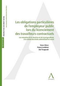 Histoiresdenlire.be Obligations particulières de l'employeur public lors du licenciement de travailleurs contractuels Image