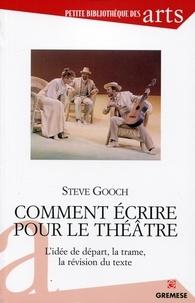 Steve Gooch - Comment écrire pour le théâtre - L'idée de départ, la trame, la révision du texte.