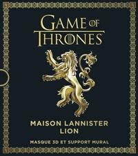Steve Wintercroft - Games of Thrones, Maison Lannister Lion - Masque 3D et support mural.