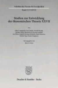 Studien zur Entwicklung der ökonomischen Theorie XXVII - Der Einfluss deutschsprachigen wirtschaftswissenschaftlichen Denkens in Japan.