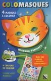 Studio Victor - Colomasques animaux familiers - Avec 4 masques à colorier, 4 crayons de couleur, 1 livre avec modèles, 1 planche de stickers scintillants.
