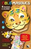 Studio Victor - Colomasques animaux sauvages - Avec 4 masques à colorier, 4 crayons de couleur, 1 livre avec modèles, 1 planche de stickers scintillants.