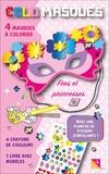 Studio Victor - Colomasques fées et princesses - Avec 4 masques à colorier, 4 crayons de couleur, 1 livre avec modèles, 1 planche de stickers scintillants.