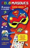 Studio Victor - Colomasques super héros - Avec 4 masques à colorier, 4 crayons de couleur, 1 livre avec modèles, 1 planche de stickers scintillants.