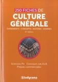 Studyrama - 250 fiches de culture générale - Sciences po, concours cat A & B, prépas commerciales.