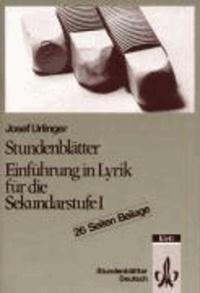 Stundenblätter Deutsch. Einführung in Lyrik für die Sekundarstufe I.